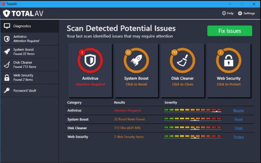 Total AV Antivirus Crack best security application